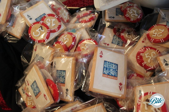 Afterschool All Stars Fundraiser sugar cookies with branding. Packaged in cellophane with ribbon