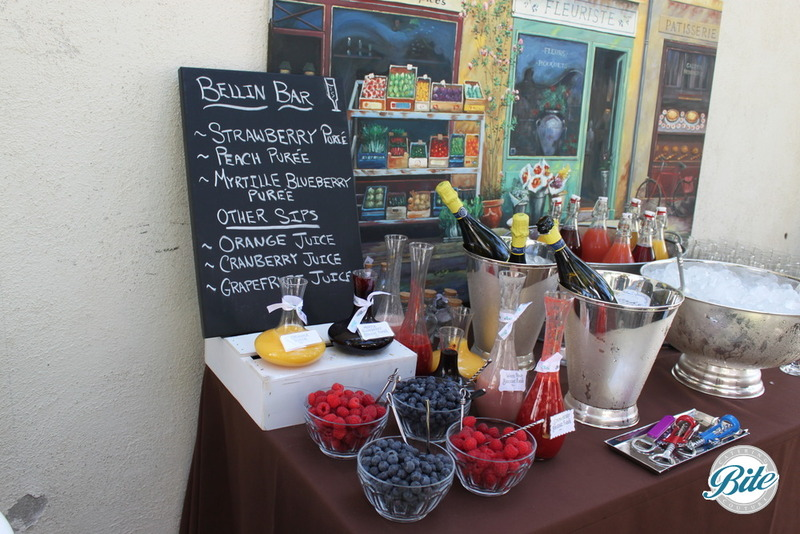 Build your own bellini beverage display