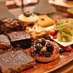 Dessert Assortment on Wooden Tray