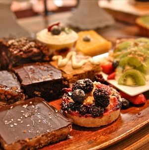 Dessert Assortment on Wooden Tray