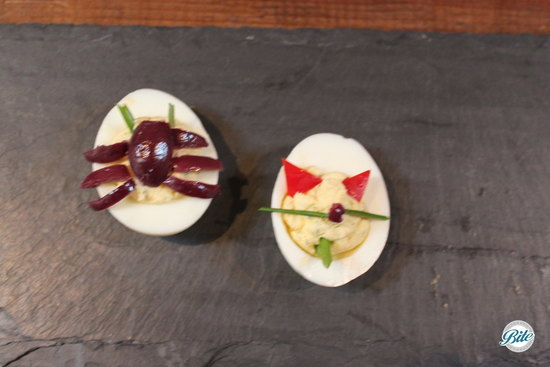 Devil and Spider Devilled Eggs #Halloween
