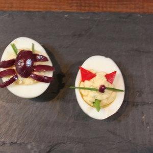 Devil and Spider Devilled Eggs #Halloween