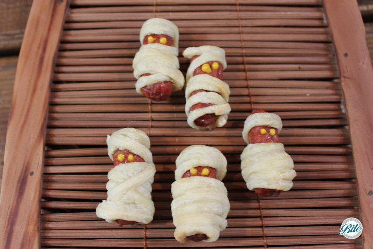 Mini mummy dogs - a festive take on an old favorite