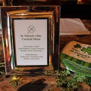 St. Patrick's Cocktail Menu