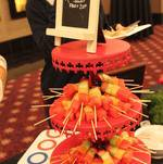 Buffet Display of Fruit Skewers