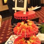 Buffet Display of Fruit Skewers