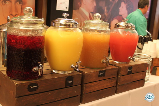 Rustic Juice Station Display
