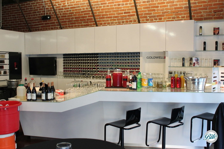 we converted the salon's color bar literally into a bar! Guests loved it!