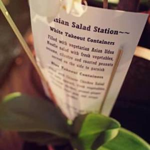 Asian Salad Station Menu Description