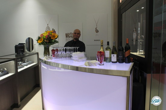 Grand opening in-store bar set up