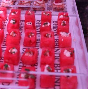 Watermelon Cubes @ Bhindi on branded tray