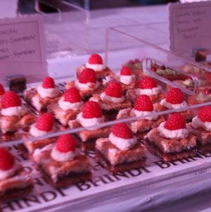 Raspberry Shortbread Bites @ Bhindi Grand Opening