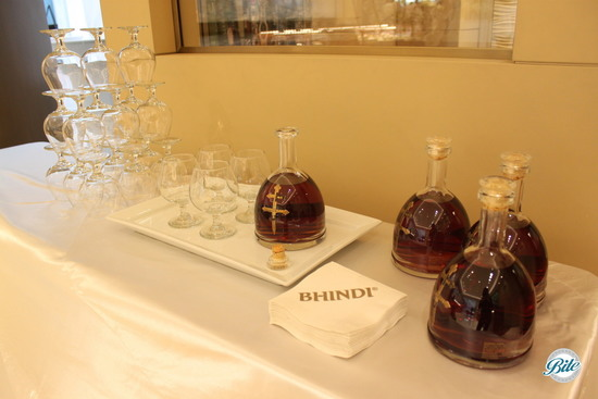 Cognac bar display
