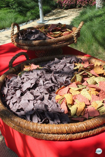 Colored Chips on Buffet