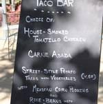 Taco Bar Menu