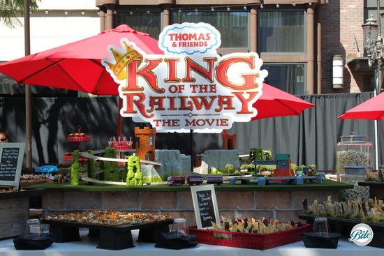 Stations display at film premiere of Thomas the Train: King of the Railway