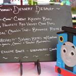 Thomas the Train Film Premiere Dessert Sign