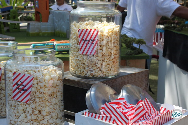 Carnival themed popcorn bar