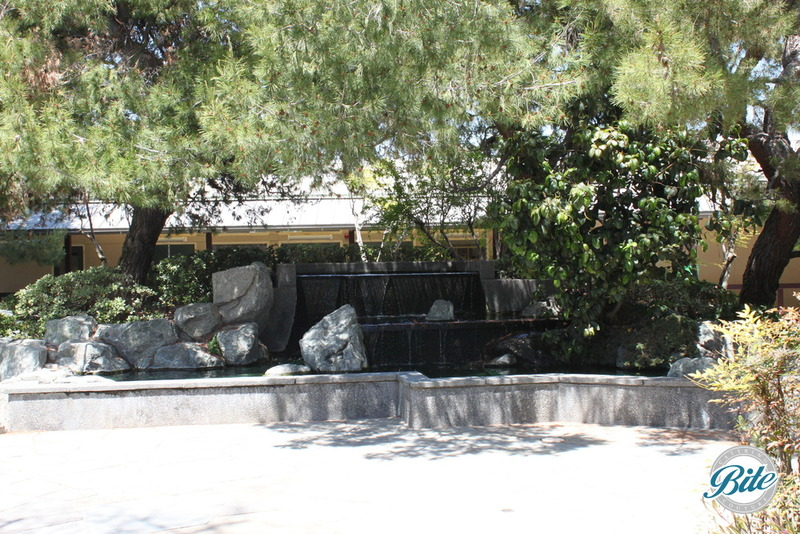 Torrance Cultural Arts Center Pine Wind Japanese Garden Fountain