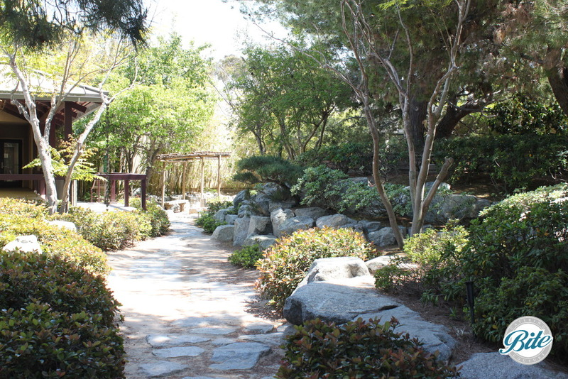 Torrance Cultural Arts Center Pine Wind Japanese Garden Stone Path