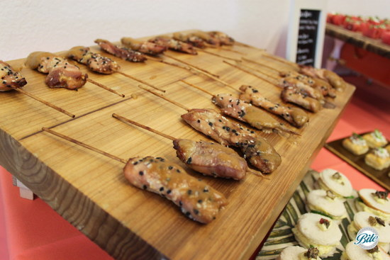 Chicken Satay Skewers at Torrance Cultural Arts Center
