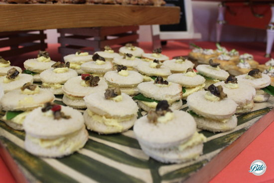 Egg Salad Tea Sandwich for Funeral Menu at Torrance Cultural Arts Center