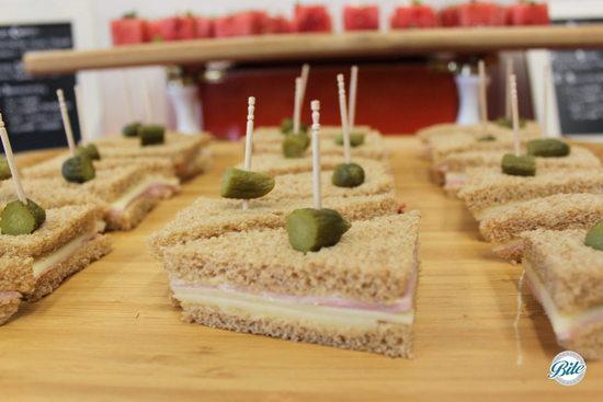 Ham and Swiss Tea Sandwich for Funeral Menu at Torrance Cultural Arts Center
