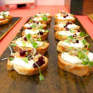 Beets & Goat Cheese Crostini at Torrance Cultural Arts Center