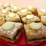 Raspberry shortbread for Funeral Menu at Torrance Cultural Arts Center