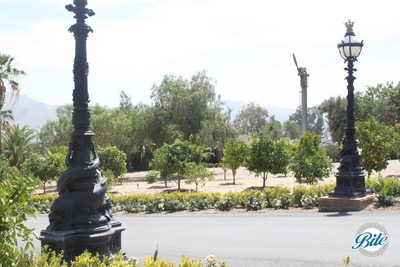 Newhall Mansion Driveway Lamp Posts