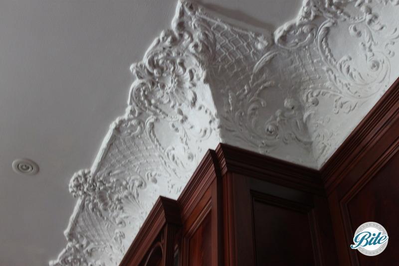 Newhall Mansion Ballroom Molding