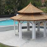 Newhall Mansion Pool Gazebo