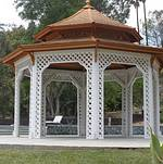 Newhall Mansion Pool Gazebo Front