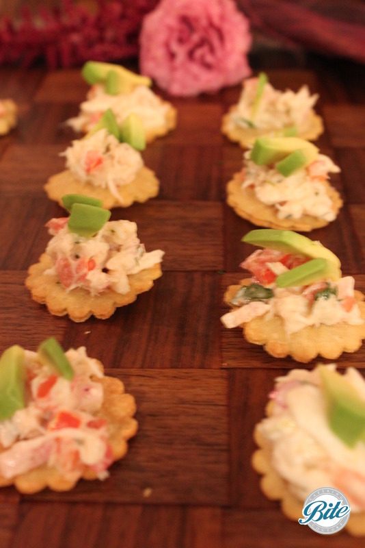 Sweet crab on a cracker