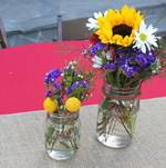 Backyard BBQ Rustic Centerpieces