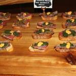 Backyard BBQ Party Grilled Flank Steak Crostini