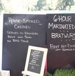 Backyard BBQ Party Chalkboard Menus