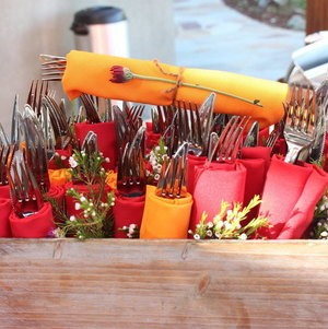 Backyard BBQ Party Wildflower Utensils