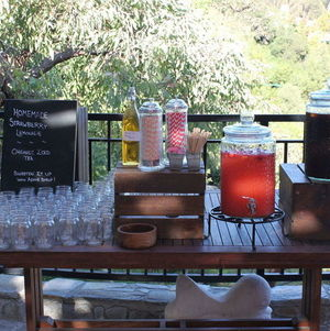 Backyard BBQ Party Beverage Station