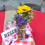 Backyard BBQ Party Centerpieces