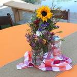 Backyard BBQ Party Sunflower Centerpieces