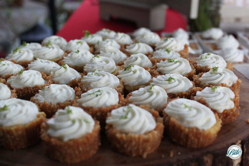 Mini key lime pie bites with graham cracker crust. Perfect end to a BBQ party!