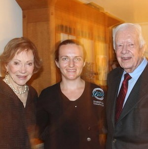 Chef Elizabeth with President Carter and First Lady @ BBQ Fundraiser