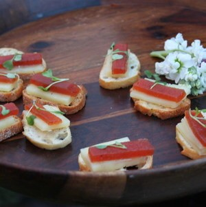 Company BBQ Cheese & Fruit Crostini