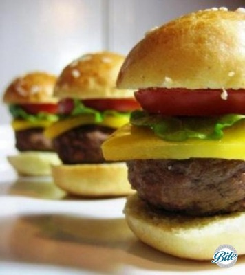 Mini Cheese Burgers with homemade Brioche Buns