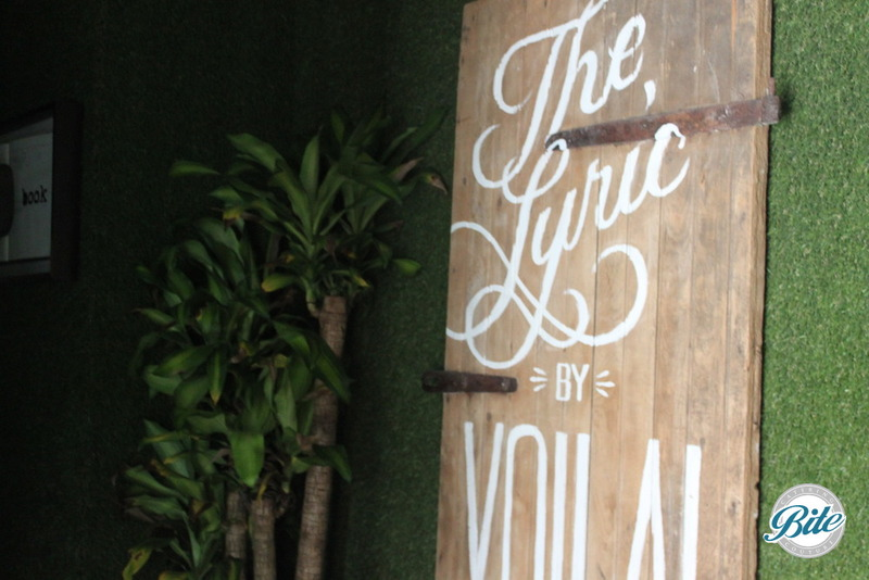 Lyric Theater sign at Voila Gallery