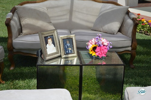 Lounge area for guests to enjoy at outdoor bridal shower