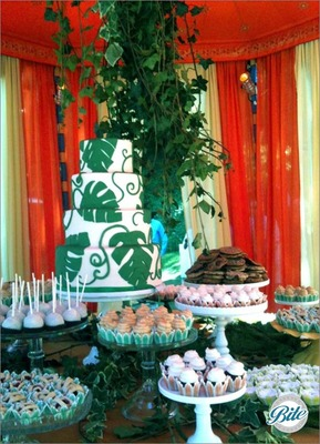 Green Wedding in Bel Air Cake and Desserts