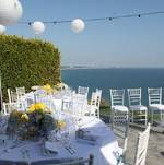 Malibu Home Backyard Wedding Reception with Ocean View