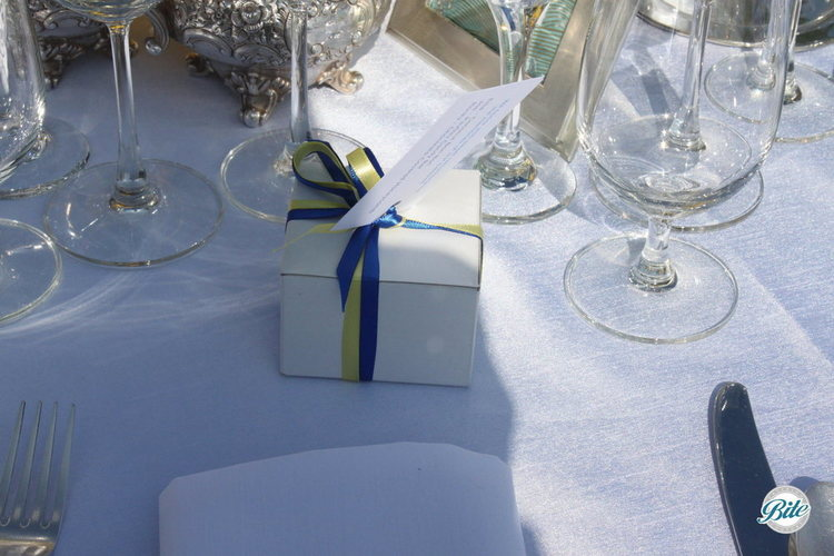 Wedding Favors on the tables